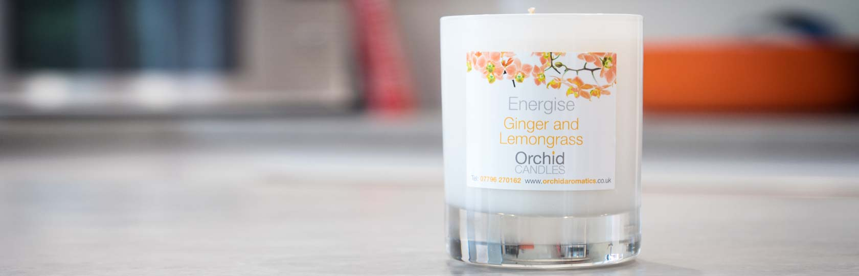Energise Aromatic Candle in the kitchen
