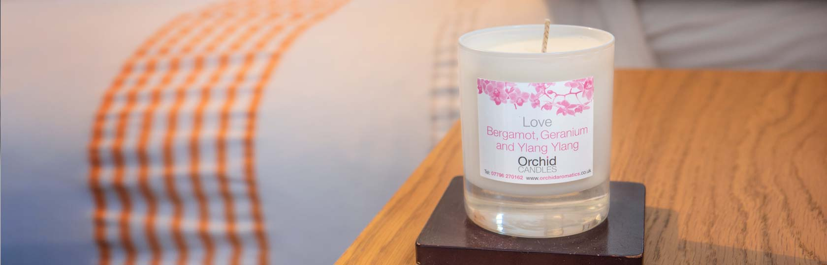 Love Aromatic Candle in the bedroom